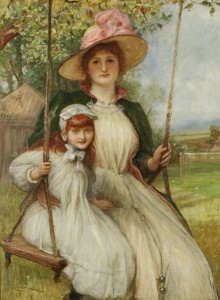 robert_walker_mac_beth_-_mother_and_daughter_on_a_swing_happy_times_1895
