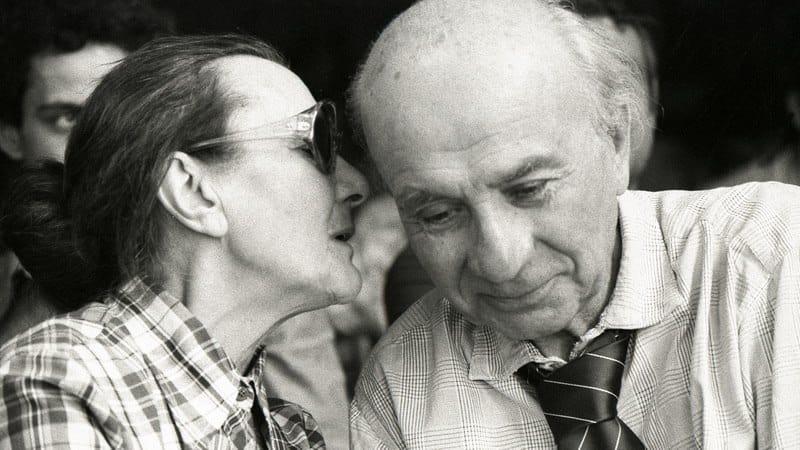 Kozmutza Flóra férjével, Illyés Gyulával 1979-ben
